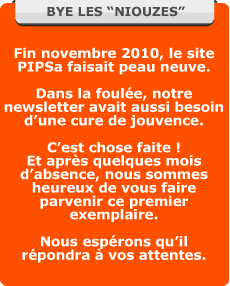 Message nouvelle newsletter