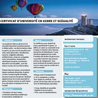 Certificat en Genre et Sexualité