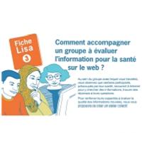Comment accompagner un groupe à évaluer l'information pour la santé sur le web ?