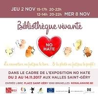 Expo No Hate et Bibliothèque vivante