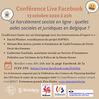 Harcèlement sexiste en ligne : le 13/10 Conférence Live Facebook